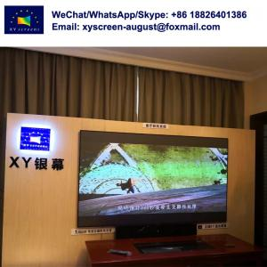 China black diamond projection screen/waterproof projector screen film for UST projector in the bright room on sale