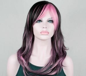 China Layered Black Synthetic Wig For Women High Temperature Fiber Wigs on sale