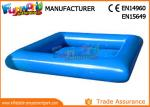 Large Blue PVC tarpaulin Inflatable Water Pools Square / Round Shape