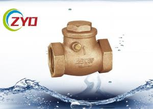 China Sandblasting 1 2 Brass Ball Check Valve , Air Check Valve With Brass Baffle on sale