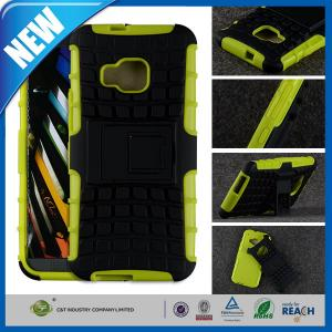 China Green Heavy Duty Rugged Armor Cellular Phone HTC One M9 Case with Stand on sale