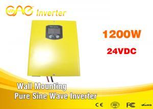 China High efficiency 87% inverter dc 24v ac 220v 1200w sine wave inverter with charger on sale