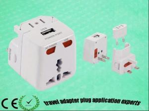 China Word wide use universal travel adaptor with USB for gift and travel on sale