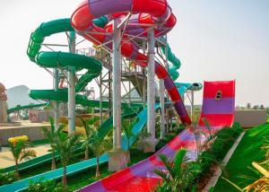China Indoor Outdoor Boomerango Water Slide 60X27M Area For Aqua Park , Holiday Villa on sale
