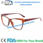 China Cat eye Optical Eyeglasses for men Acetate temple with Flex CE FDA wholesale
