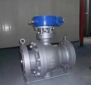 China WCB Trunnion Mounted Ball Valve for throttling Flow with RF Flanged Connection on sale