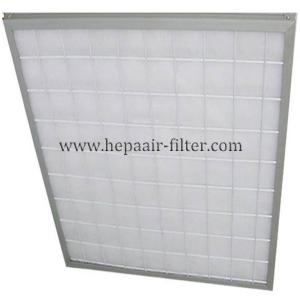 China Aluminum Frame Panel Primary Pleated Media Filter HEPA Air Conditioning Filters on sale