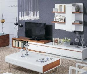 Quality White High Gloss Living Room Furniture Wall Unit Coffee Table Non Toxic Material For