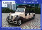 Energy Saving Classic Golf Carts With 4 Rows Coffee white Colour Vintage Type