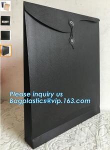China Fashion design gold foil edges light pink art paper wedding invitation cards packaging envelope RSVP envelope,bagplastic on sale