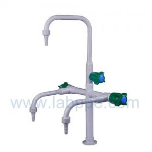 Quality SHA25-3-Three Way/Triple outlet Lab Tap/Faucet,brass,360°swing,3 way lever for sale