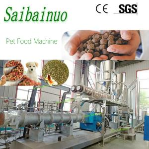 China Industrial Automatic Pet Food Extruder Fish Feed Making Machine on sale