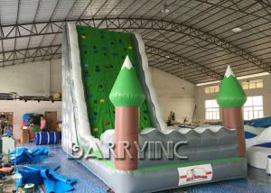 China Jungle Green Kids Inflatable Climbing Wall For Amusement Inflatable Play Equipment on sale