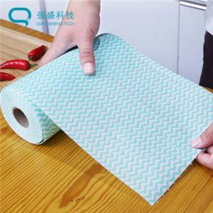 China Wet Dry No Residue ISO9001 55GSM Nonwoven Cleaning Wipe Roll on sale