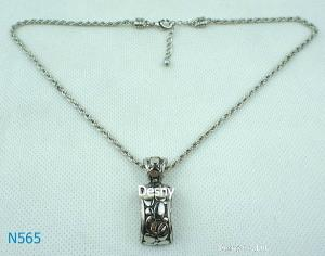 China Rhinestone Fashion Men's Silver Chains Mixed Metal Necklace for Engagement on sale