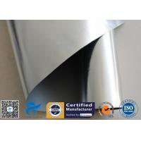 China 520g Silver Coated Fiberglass Fabric One Side Silicone One Side Aluminium Foil on sale