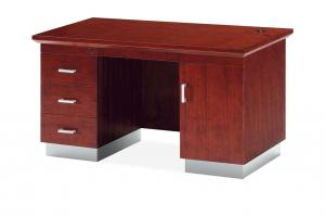 China MDF Wood Veneer Office Furniture / Manager Wooden Office Desk With Drawers on sale
