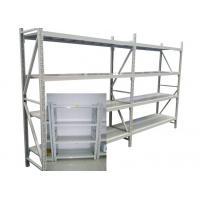 Adjustable Steel Freestanding Shelving Unit For Storage , Powder Coated Surface Treatment