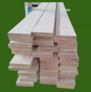 China 16' white gesso primed trim board, S4S Board, flat frame, finger joint board on sale