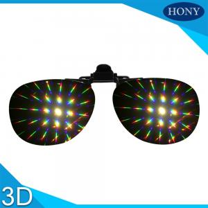 China Plastic Clip On Diffraction Glasses 13500 Lines Fireworks Eyewear For Christmas Party Use on sale