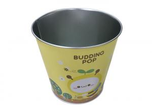 China Holiday Decoration Metal Tin Bucket For Popcorn / Biscuit Packing on sale