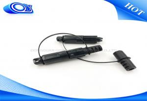 China OFNR Flame Retardant Tactical Fiber Optic Cable With Mini SC APC Waterproof Connector on sale