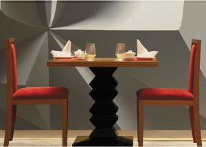 China Dark Teak Modern Hotel Dining Table , Country Restaurant Table And Chairs Sets on sale