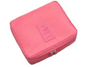 China Polyester And Pu Leather Lightweight Toiletry Organizer Travel Bag Ladies 16 X 12 X 9cm on sale