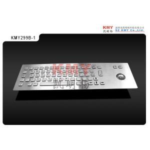 China vandalproof top panel mounting metal kiosk keyboard with trackball KMY299B-1 on sale