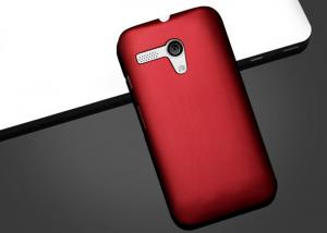 China Motorola Mobile Phone Cases Smooth Red rubber coating Moto G Protective Cover on sale