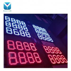 red white display led numeric outdoor petrol station gas station led