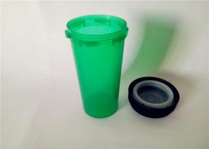 China Translucent Green Reversible Cap Vials , Odorless Medicine Pill Bottles For Pharmacy on sale