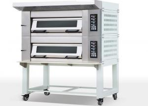 China Big Glass Door Electric Oven For Baking Cakes , Two Deck Six Trays Commercial Oven For Baking on sale