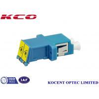 LC/UPC Shutter Fiber Optic Adapter Full Flange Single Mode MonoMode Blue Colour