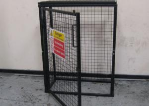China Black Powder Coating Gas Cylinder Cages Flexible / Foldable Easy Install on sale