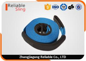 China Width 75mm 10 Ton Auto Car Exterior Accessory Car Tow Strap With Eye Loops on sale
