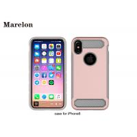 China Carbon Fiber TPU Phone Case / PC Back Cover Case For Decoration Iphone 8 on sale