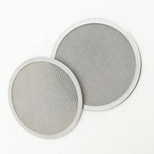 China 20 50 100 1000 Micron Rimmed 316 Stainless Steel Wire Mesh Discs For Chemical Industry on sale