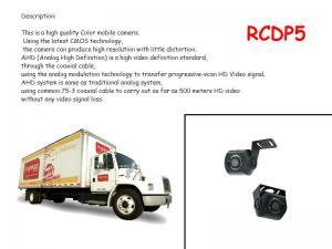 China RECODA RCDP5 Car Reverse Camera 2.0 Megapixel 1080P 12VDC 12 Leds on sale