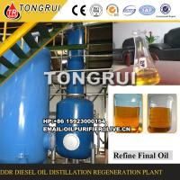 85%-90% Oil Yield Rate Waste Oil Refine To Diesel Oil Distillation Equipment