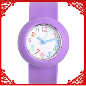 China 2014 Fashion wholesale adults kids silicone slap watches with snap band on sale