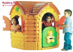 China Amusement Park Games Plastic Outdoor Fairytale Cottage Playhouse Eco Friendly 135x125x135 on sale