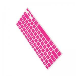 China New Creative Foldable Silicone Keyboard / Roll Up Rubber Computer Keyboard Pink Color on sale