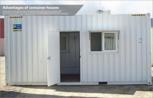 China Movable storage prefab container house , steel frame modular homes with PVC cover on sale
