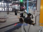 Automatic middle steel pipe to flange welding machine and solutions 6M piping line