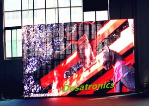 China Stage Background Video P10.28MM LED Curtain Wall Advertising Led Display Board on sale