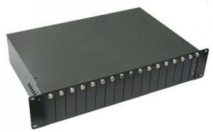 China 10/100Base-TX-100Base-FX External Double Fiber Optic Media Converter supplier on sale