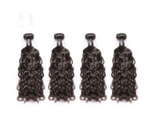 China Water Wave Virgin Hair In Human Hair Extensions 100% Indian Remy Human Hair on sale