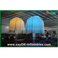 White Club Bar Inflatable Lighting Decoration Jellyfish Nylon Cloth For Party