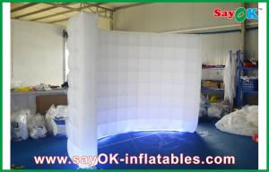 China Event / Wedding Party Inflatable Air Tent , Led Lighting Curved White Inflatable Wall on sale